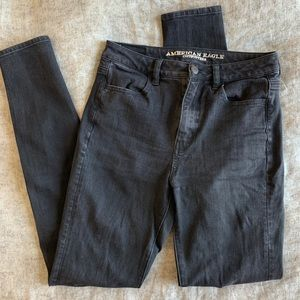 American Eagle Highest Rise Black Jeggings